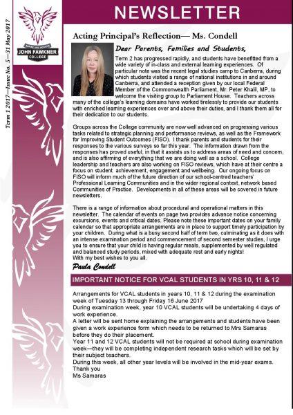 Newsletter - Issue 5
