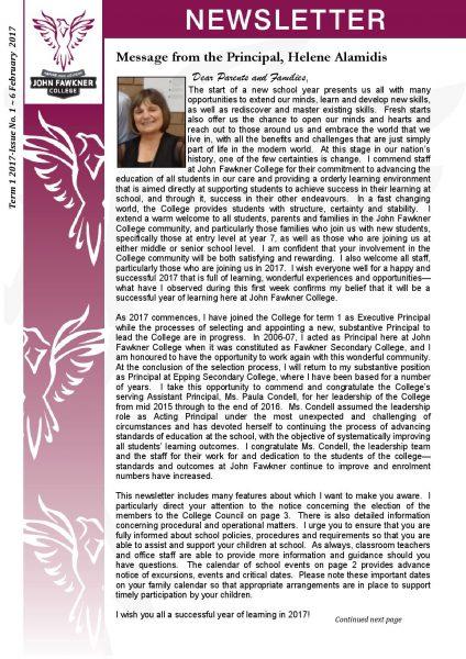 Newsletter - Issue 1